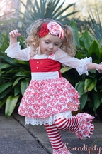 Serendipity Girls Holiday Top and Leggings