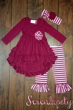 Serendipity Girls Tunic with Striped Leggings