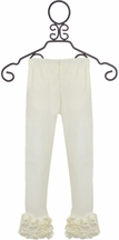 Serendipity Little Girls Leggings in Ivory