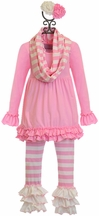 Serendipity Little Girls Soft Tunic Set in Pink