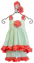 Serendipity Ruffle Tunic with Shorties in Mint (12Mos & 24Mos)