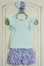 Serendipity Secret Garden Flutter Top with Shorts