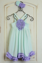 Serendipity Secret Garden Girls Rosette Dress