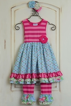 Serendipity Southern Belle Ruffle Dress Set for Girls