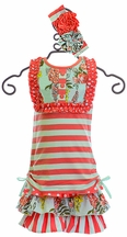 Serendipity Top with Shorts Sweet Clementine (4T & 5)