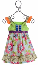 Servane Barrau Designs Fashionable Little Girls Dress with Ruffles (2/3 & 6/7)