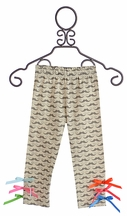 Servane Barrau Designs Little Girls Mustache Leggings (4/5 & 6/7)