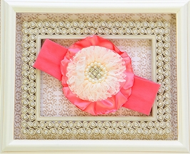 She Bloom Flower Headband in Coral (TODDLER)