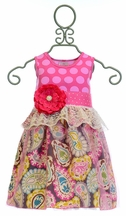 She Bloom Party Dress in Floral Polka Dot