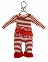 She Bloom Red Infant Romper Cherish