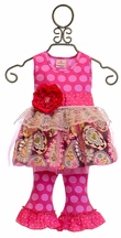 She Bloom Spring Tunic Set Jo in Hot Pink (6Mos,12Mos,3T)