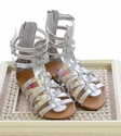 Silver Tween Gladiator Shoes by Josmo