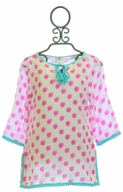 SnapperRock Kaftan Swim Cover Up Raspberry (Size 12)
