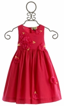 Sophie Catalou Fancy Girls Dress with Raspberry Red Flowers (9/12Mos,12/18Mos,4,5)