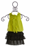 Sophie Catalou Ruffle Skirt and Top Set for Girls