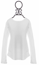 Splendid Cozy Crew Neck Top for Girls in White