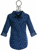 Splendid Denim Shirt for Tweens with Polka Dots