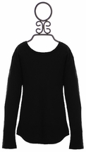 Splendid Girls Soft Crew Neck Top in Black