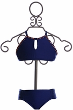 Splendid High Neck Bikini in Navy