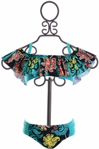 Splendid Ruffle Off Shoulder Girls Bikini (10,12,14)