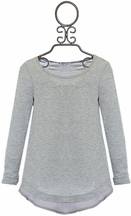 Splendid Soft Cotton Top for Tweens in Gray