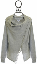 Splendid Sweater Wrap for Girls with Fringe in Gray (7/8 & 10)