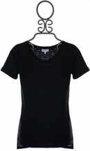 Splendid V-Neck T-Shirt in Black