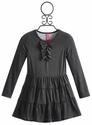 Stella Gray Ruffle Dress for Girls