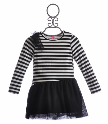 Stella Little Girls Madison Dress with Tulle Skirt