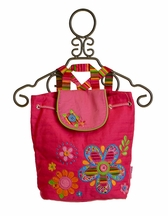 Stephen Joseph Hot Pink Flower Signature Backpack