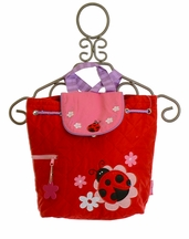 Stephen Joseph Pretty Ladybug Quilted Backpack