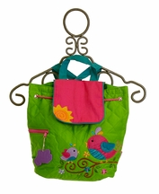 Stephen Joseph Sunshine Birds Quilted Backpack