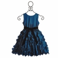 Susanne Lively Flutter Skirt Girls Dress in Slate Blue