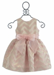 Susanne Lively Girls Party Dress in Pink Chevron (4,6,7,8,12)