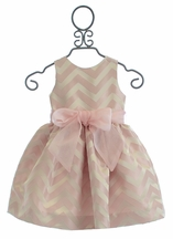 Susanne Lively Girls Party Dress in Pink Chevron (Size 7)