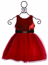 Susanne Lively Girls Sequin Red Dress (Size 10)