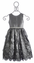 Susanne Lively Little Girls Silver Dress Flutter Skirt