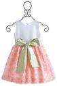 Susanne Lively Peach Soutache Dress with Silk Sash