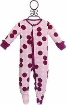 Sweet Bamboo Pajamas for Baby Girls with Dots (Newborn)