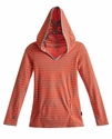 T2 Love Hoodie Mango Stripe for Tweens