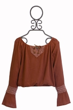 T2 Love Bell Sleeve Girls Top