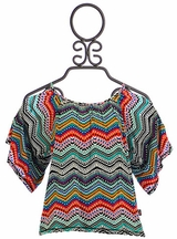T2 Love Chevron Top for Girls