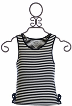 T2 Love Crop Tank Navy Stripes