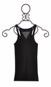T2 Love Designer Black Tank Top for Girls