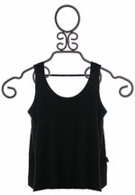 T2 Love Girls Designer Black Tank Top