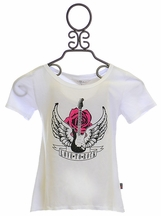 T2 Love Girls Love to Rock Tee in White
