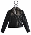 T2 Love Girls Moto Zip Jacket in Black