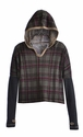 T2 Love Girls Plaid Hooded Top
