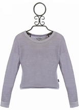 T2 Love Girls Sweater in Gray