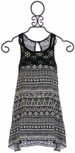 T2 Love Summer Dress in Black with Crochet (Size 8)